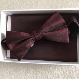 Men's Bow tie and Handkerchief Set
